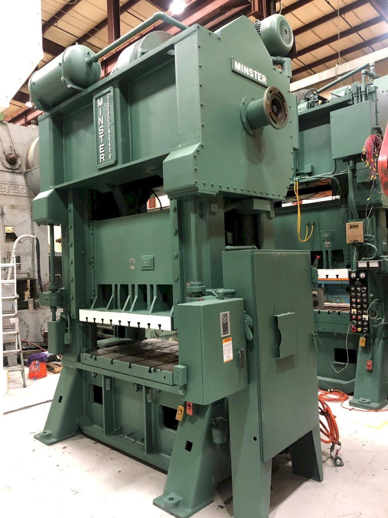 200 Ton MINSTER SC2-200-60-42 Hevi-stamper Straight Side Press