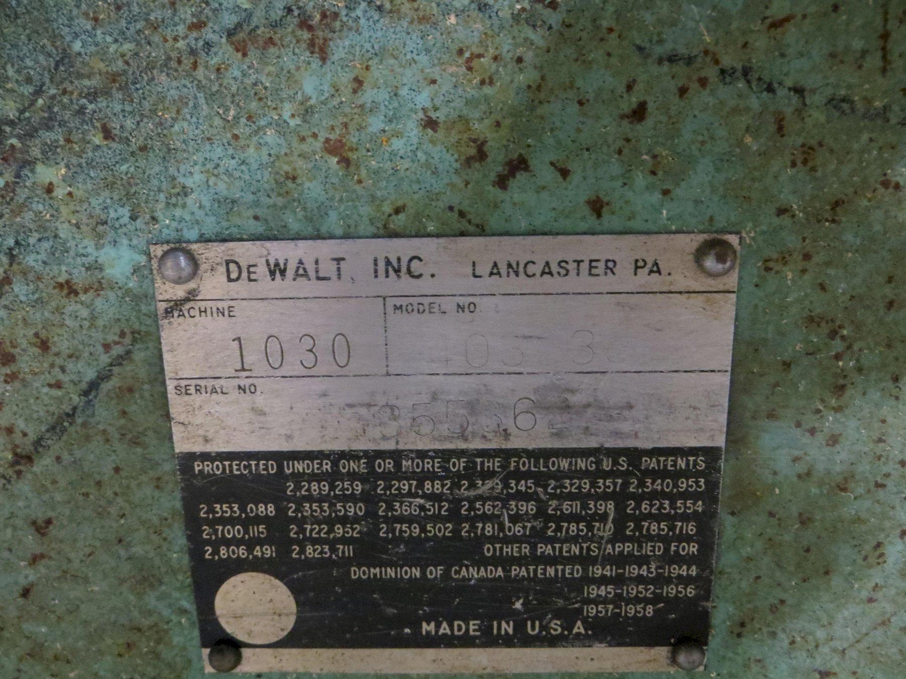 """12"""" Dewalt Radial Arm Saw Model 1030"""