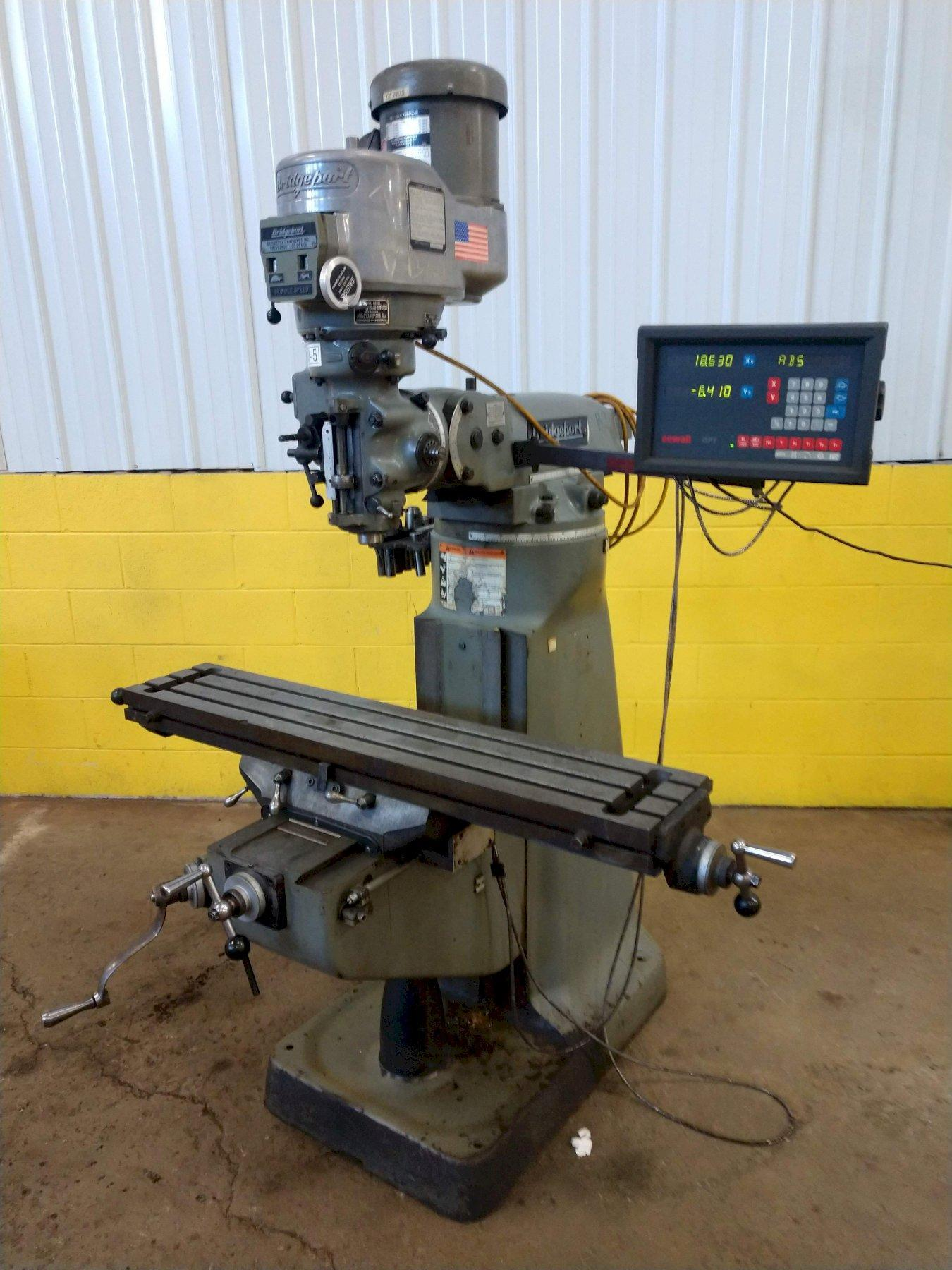 2 HP BRIDGEPORT SERIES I VERTICAL KNEE MILL: STOCK #13117