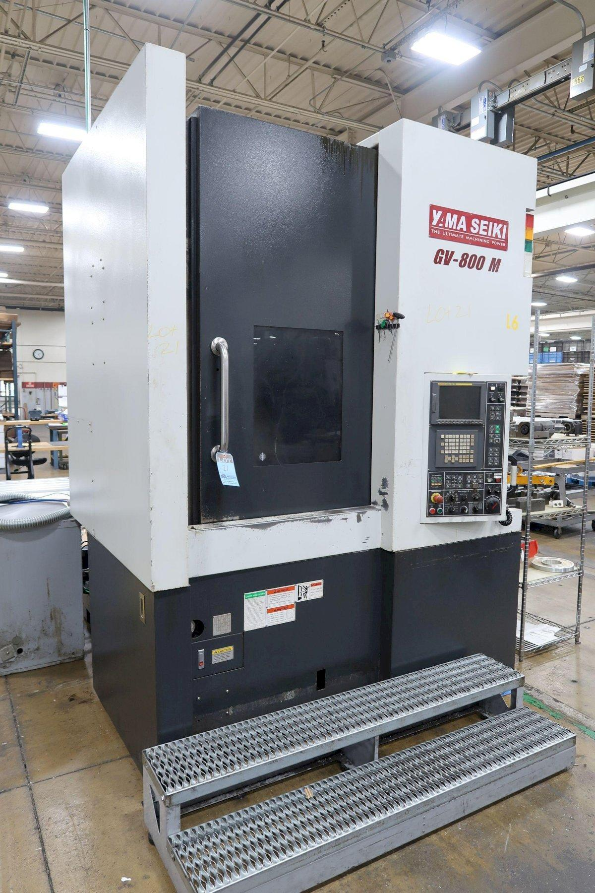 "Yama Seiki GV800M CNC Vertical Turning Lathe, Fanuc 18iTB, 18"" Chuck, 33"" Swing, 1500 RPM, Milling, C-Axis, A2-11, 30 HP, 25.5"" Under Rail, 2011"