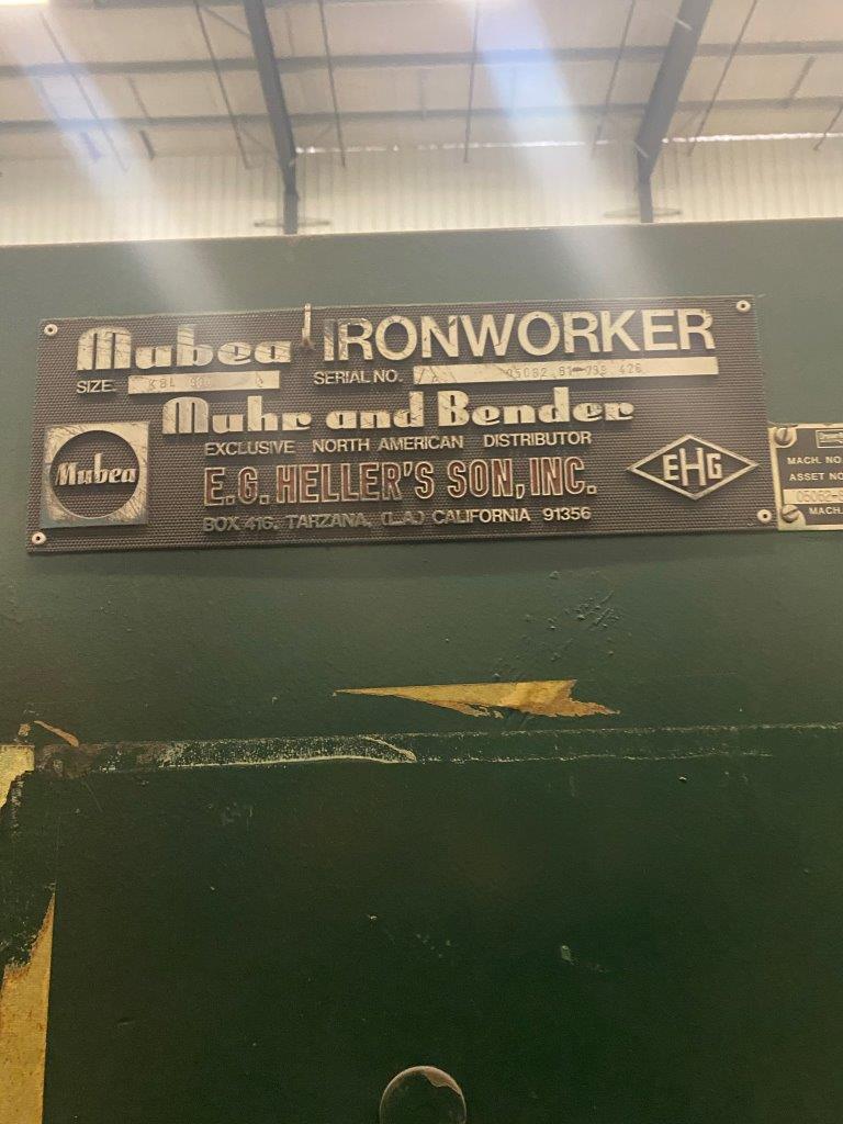 USED, 90 TON MUBEA MODEL KBL 900 IRONWORKER