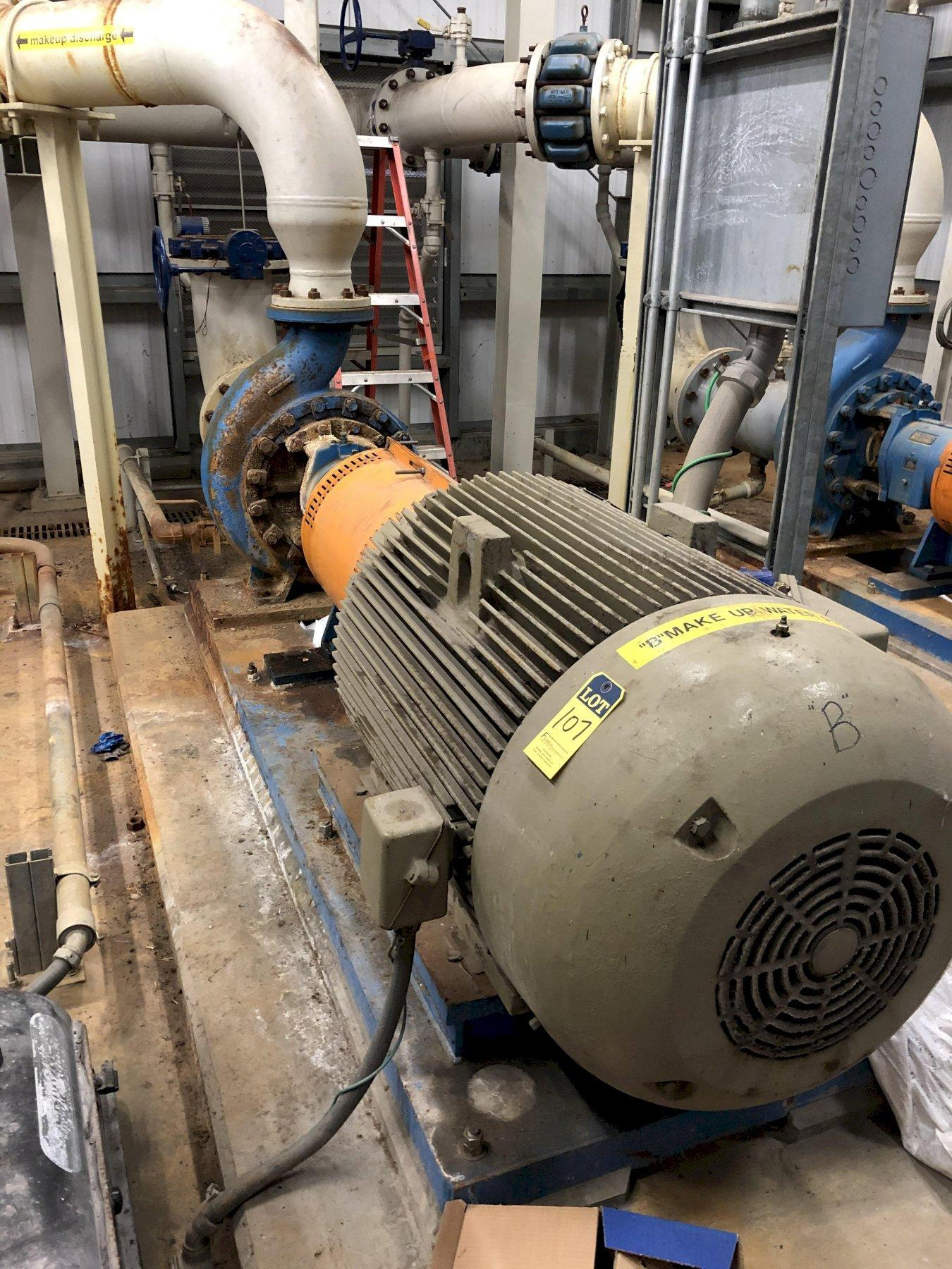a makeup pump and 200hp motor with Goulds model 3180 pump size 6x10-16 s/n p259c942-2