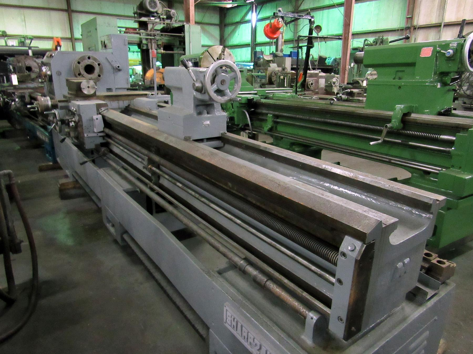 "USED, 24"" X 120"" SHARP HEAVY DUTY PRECISION GAP BED ENGINE LATHE"