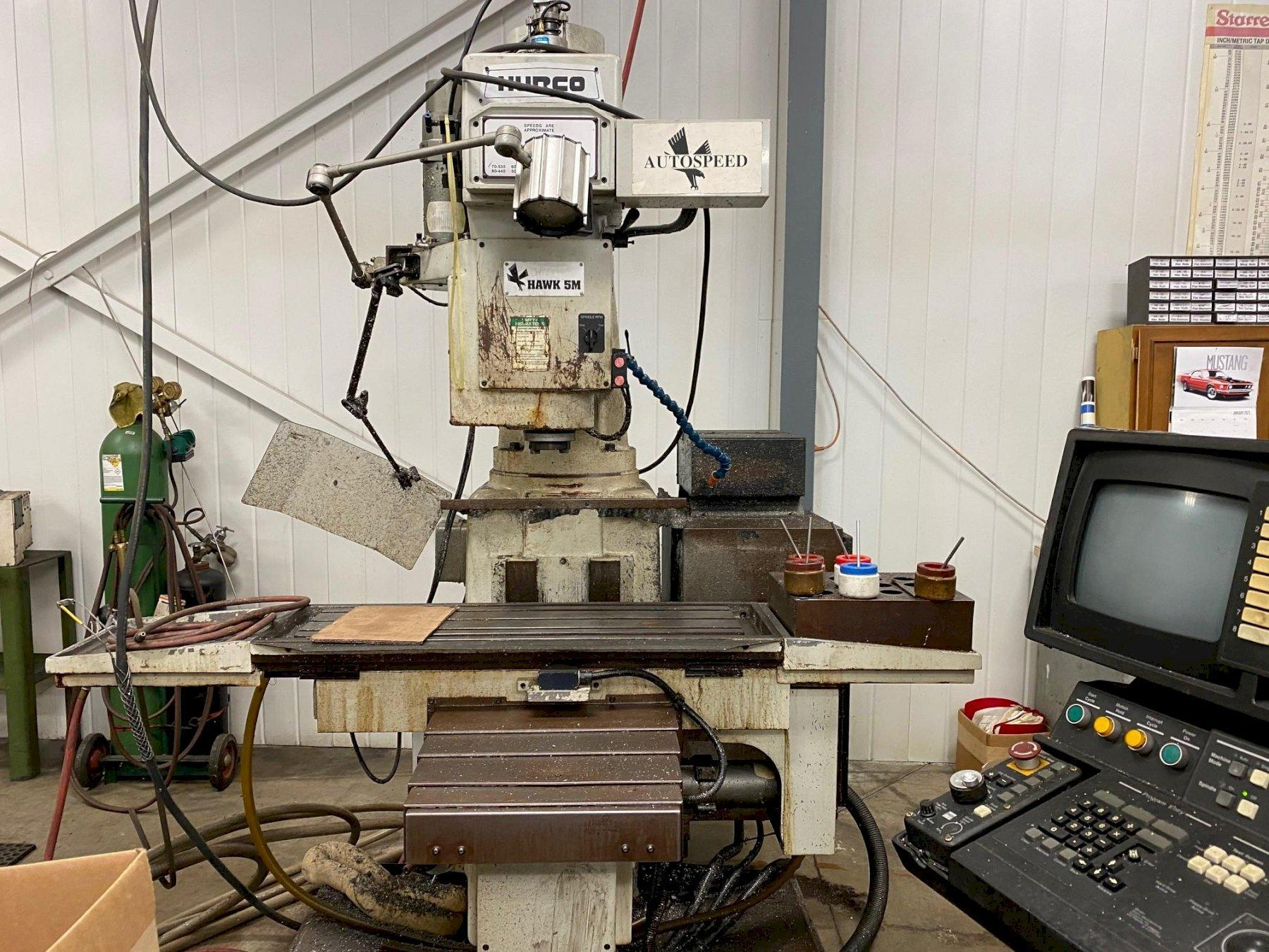 HURCO HAWK 5M 3-AXIS CNC VERTICAL MILL