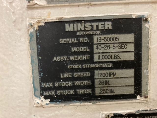 """10000 lb x 26"""" x .250"""" MINSTER FEEDLINE"""