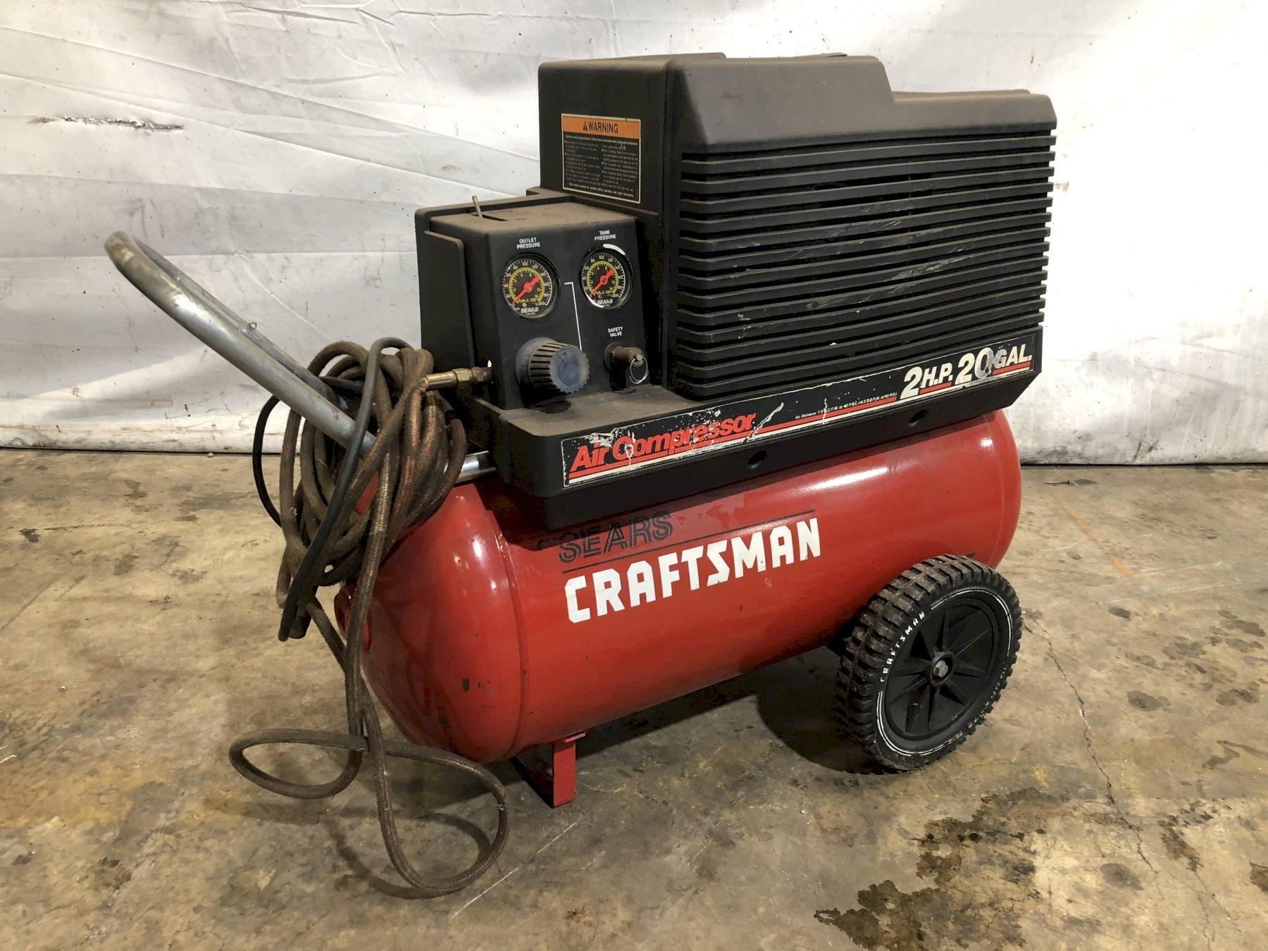 2 HP CRAFTSMAN PORTABLE AIR COMPRESSOR: STOCK #10969