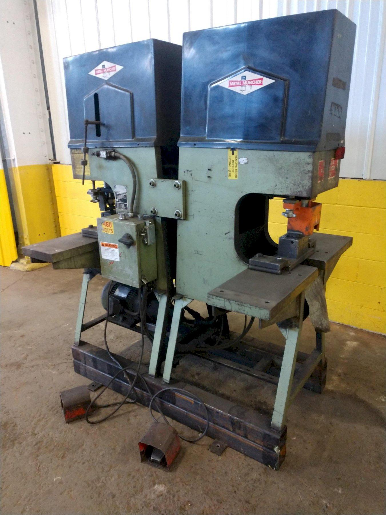 (2) 70 TON METAL MUNCHER MODEL DP70 SINGLE END HYDRAULIC PUNCHES: STOCK #13430