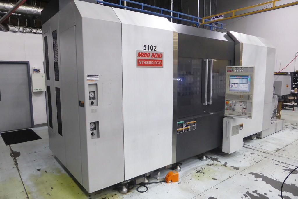 Mori Seiki Model NT4250DCG/1500 Multi-Axis Turning & Milling Center Mfg. 2009