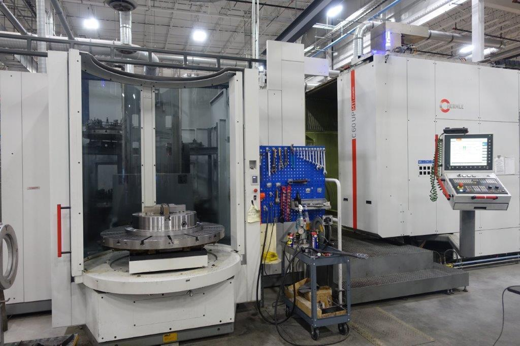 "Hermle C60 UP MT ""Dynamic"" 5-Axis CNC Trunnion Machining Center - 18000 RPM, with 4- Pallet System, Siemens 840D SL Ctrl., 70 Tools, Taper: HSKT63, 75 HP, New 2015"