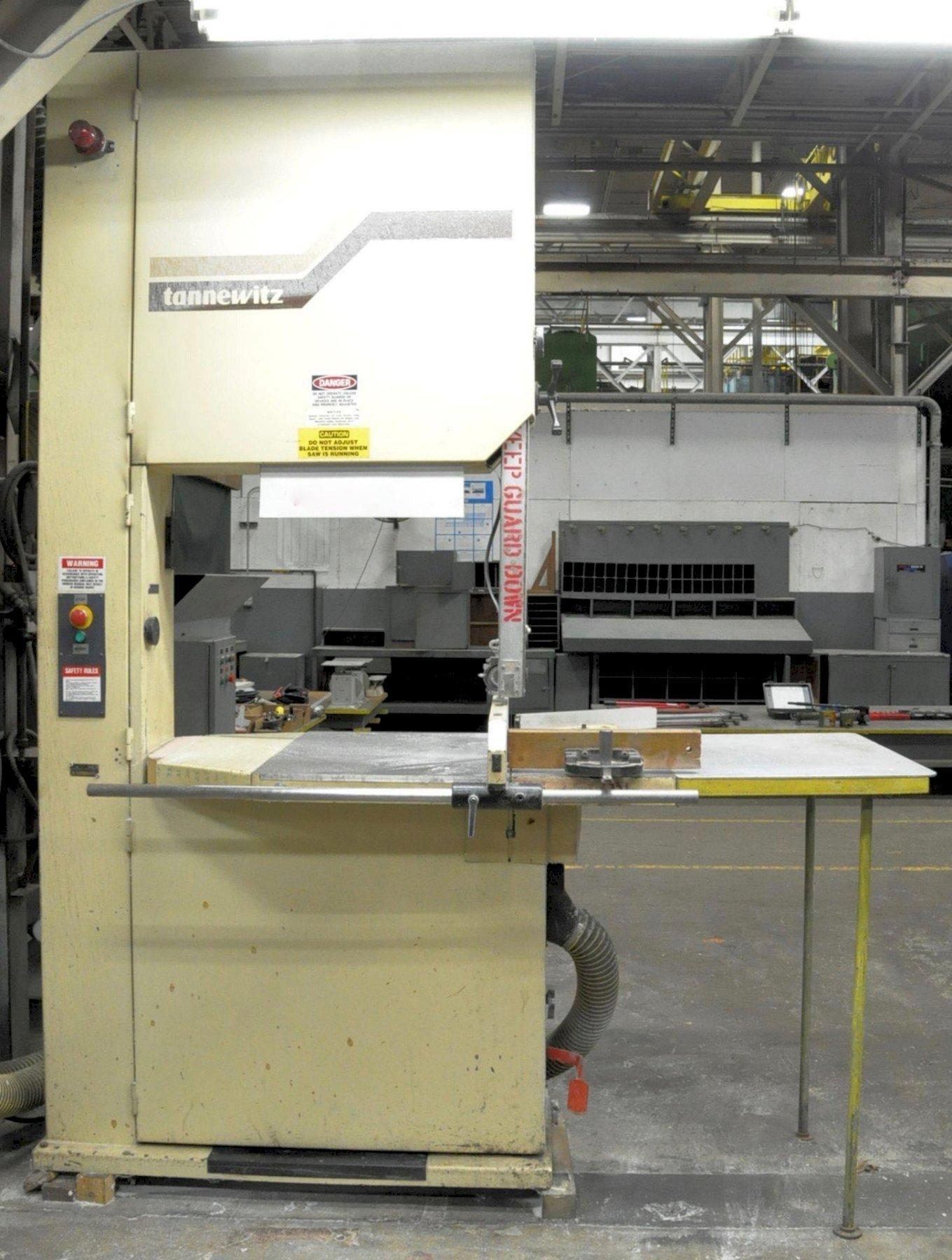 "36"" TANNEWITZ VERTICAL BANDSAW, 31"" X 45"" TABLE, 35.8"" THROAT"