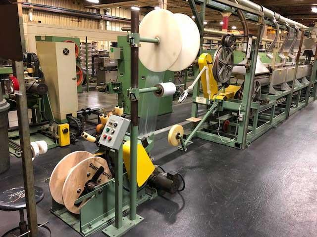 DOUBLE-GLASS YARN ENAMELED FLAT/ROUND WIRE COPPER WRAPPING MACHINE (13754)