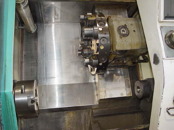 """CLAUSING TORNADO 200, Fanuc 0T CNC Control, 8"""" 3-Jaw Power Chuck, 20.86"""" Swing over Bed, 9,84"""" Max Turning Diameter, 15.74"""" Max Turning Length, Programmable Tailstock, New 1998."""