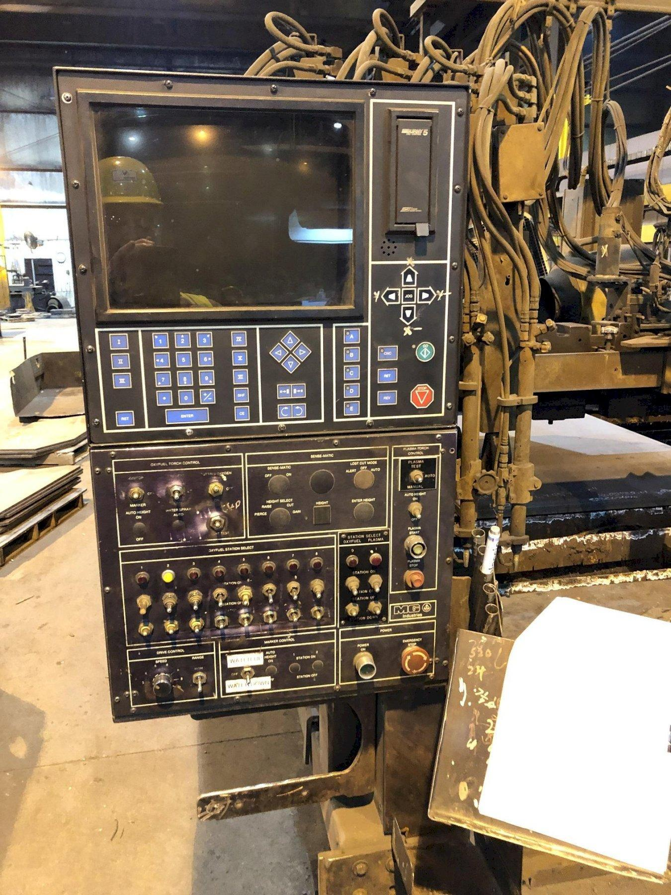 MG MODEL TMC-3500 CNC FLAME BURNER, NEW BURNY 5 AND SERVOS IN 2018