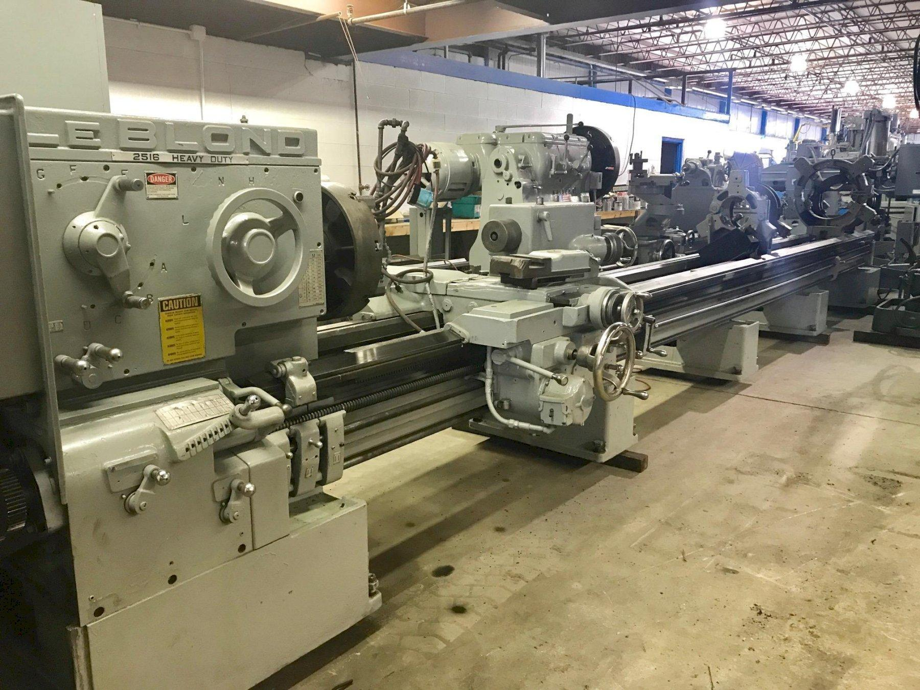 "28"" x 288"" LEBLOND MODEL 2516HD ENGINE LATHE"