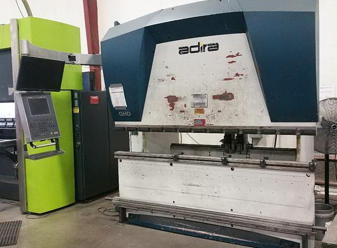 "80 Ton x 96"" ADIRA QHD 7025 Down Acting Hydraulic CNC Brake Press with  New DNC 880S , 4 way die"
