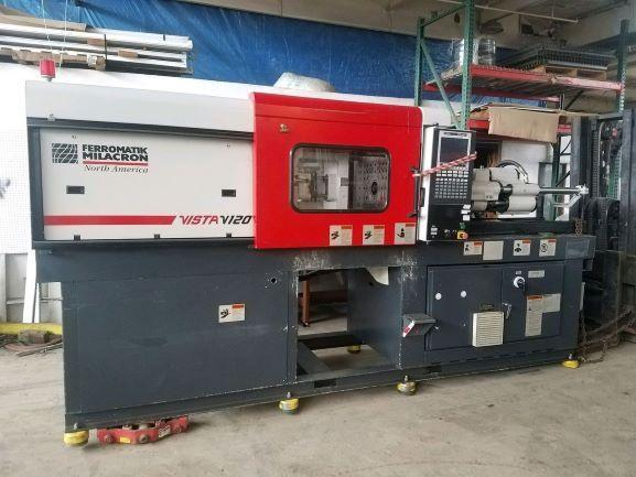 Cincinnati Used V-120 Injection Molding Machine, 120 US ton, Yr. 2000, 4.4oz.
