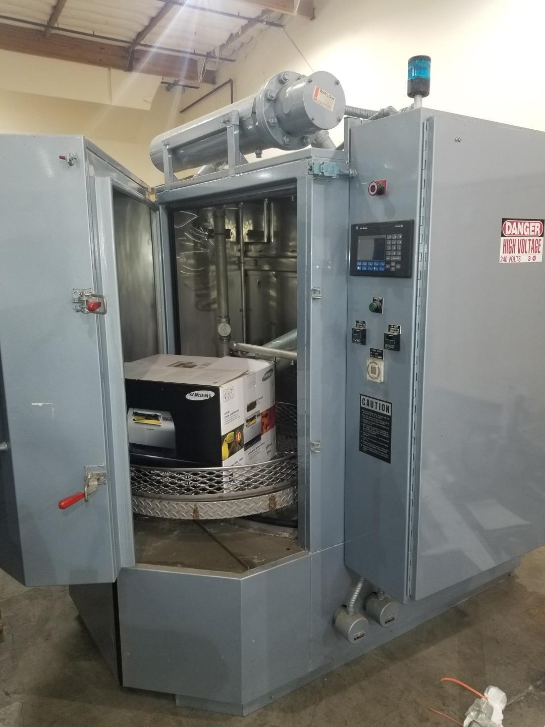 "Better Engineering F-4000-P Rotary Parts Washer Basically, 40"" Turn Table Basket, 40"" Work Ht., Tank 140 Gallons, Heat: 18 kW, Timer, 5 HP, unused - New 1999 - NEW PRICE $40K+"