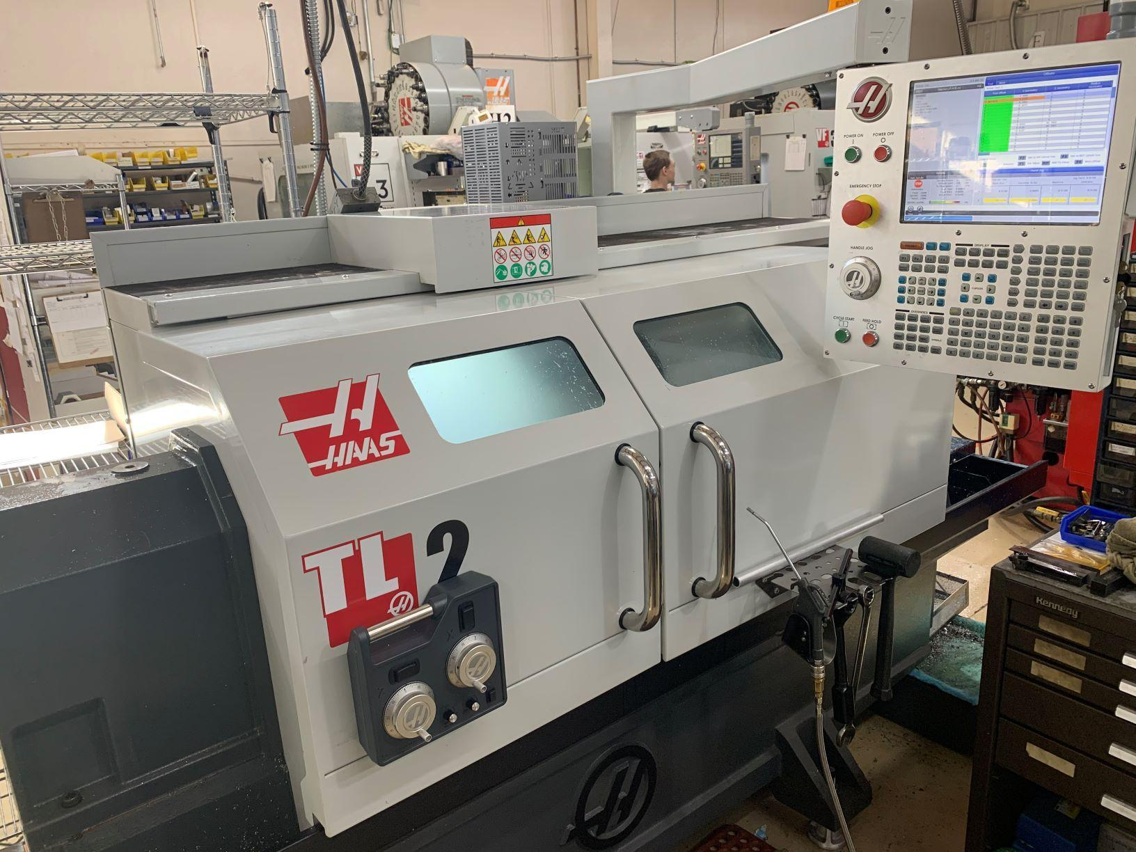 """HAAS2018 Haas TL-2 CNC Lathe - Barely Used! 20"""" Swing, 10"""" Chuck, 48"""" Centers, 3000 RPM, A2-6, Coolant, Tailstock, 4 Station Auto Tool Turret"""