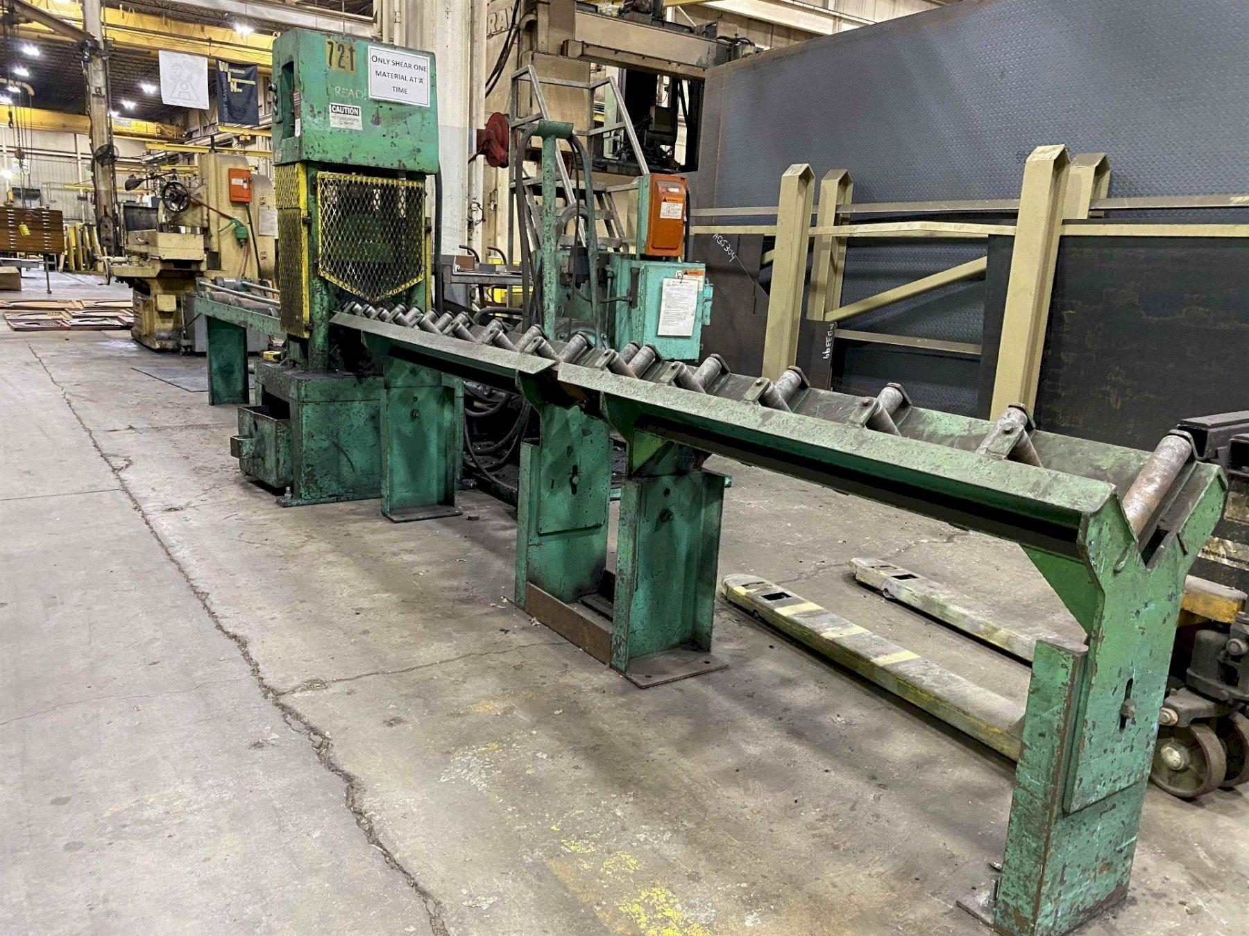 150 TON W.A. WHITNEY 765 HYDRAULIC ANGLE SHEAR. STOCK # 1262720