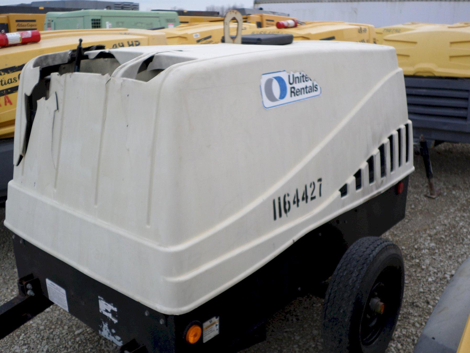 185 CFM DOOSAN MODEL #JD185 PORTABLE AIR COMPRESSOR, NEW 2010: STOCK #12145