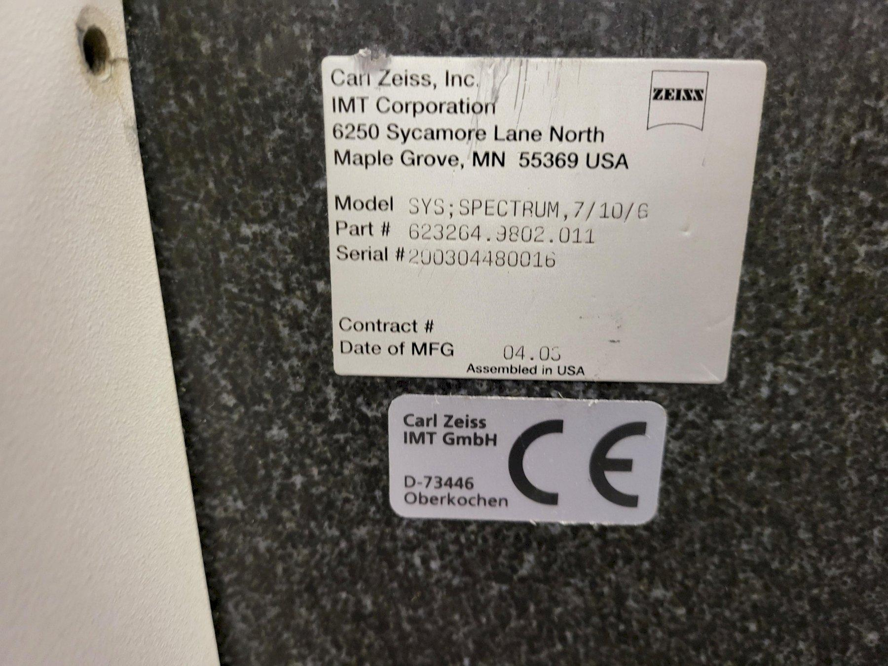 ZEISSZeiss Spectrum 7/10/6 w/RDS DCC Coordinate Measuring Machine (CMM) (#33264)