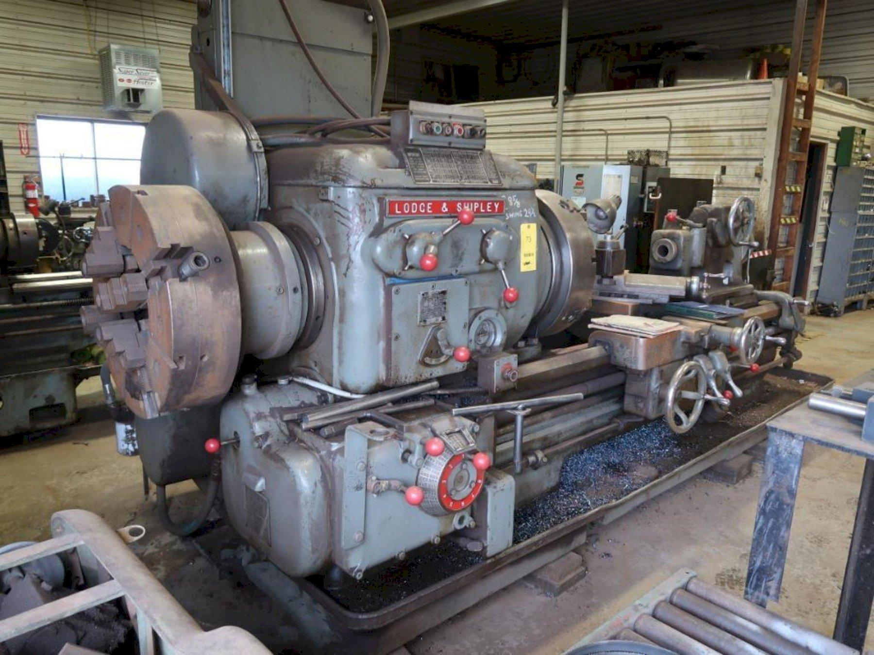 30' X 60' LODGE & SHIPLEY HOLLOW SPINDLE ENGINE LATHE: STOCK #73427