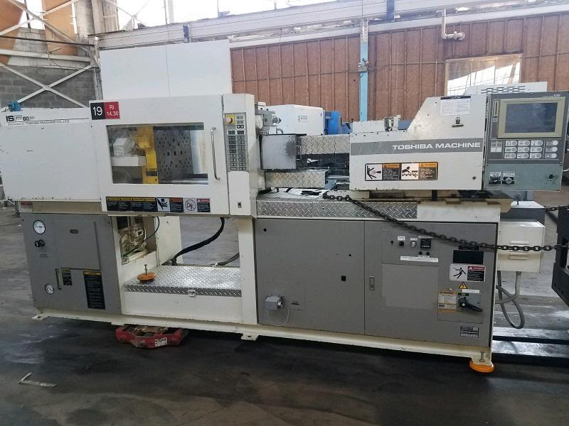 Toshiba Used ISF60PV10-15A Injection Molding Machine, 60 US ton, Yr. 1998, 2.2 oz. - Two Available