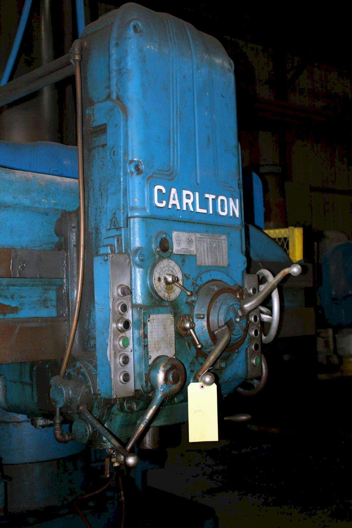 "5' X 13"" CARLTON MODEL #3A RADIAL DRILL: STOCK 13413"