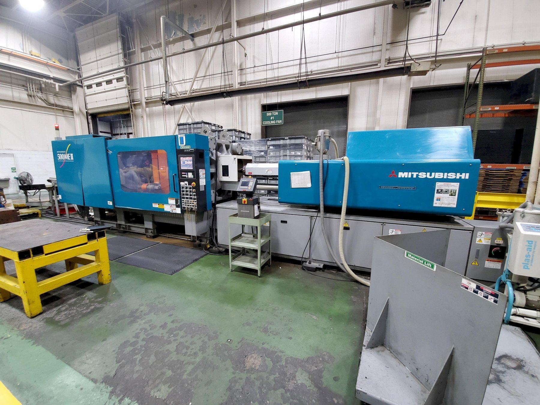 Mitsubishi Used ME500II-50S All Electric Molding Machine, 500 US ton, Yr. 2006, 43.7 oz PS