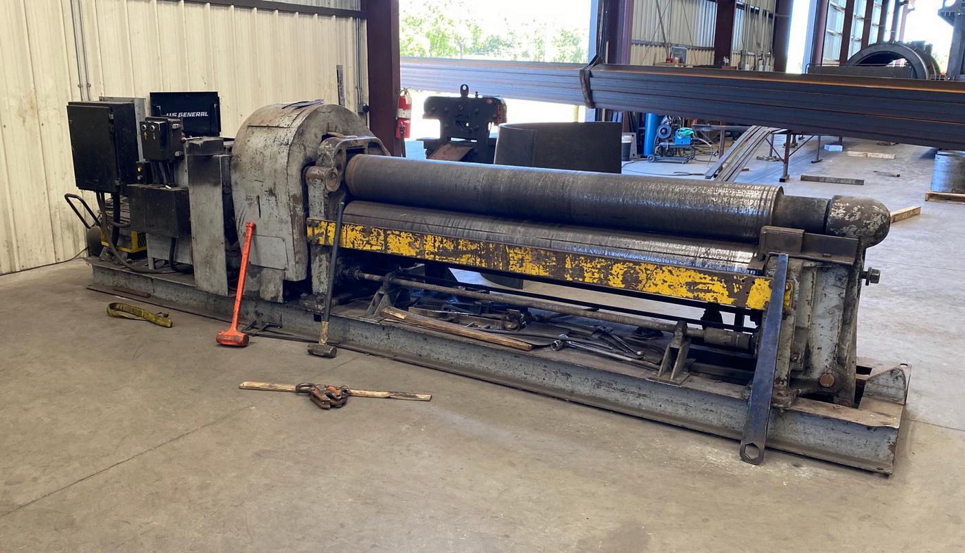 "98"" x 1/2""  WEBB 7L1108 Mechanical Initial Pinch Plate Bending Roll, Air Drop,"