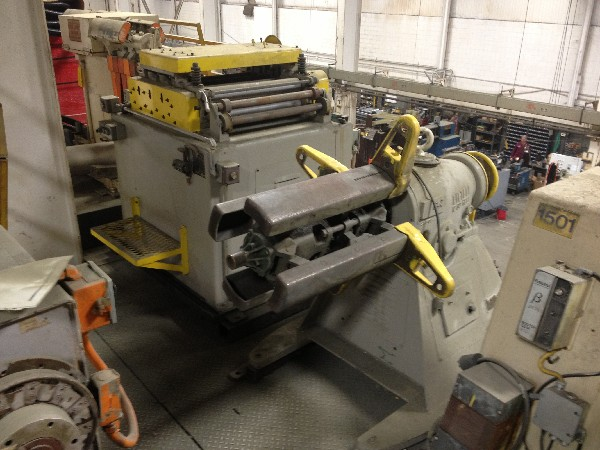Littell Coil Reel Uncoiler and Powered Coil Straightener 6,000 Lbs.