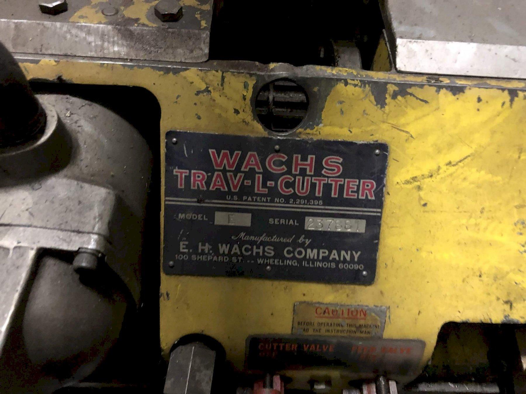 E H WACHS MODEL #E TRAV-L CUTTER & BEVELER: STOCK #70166