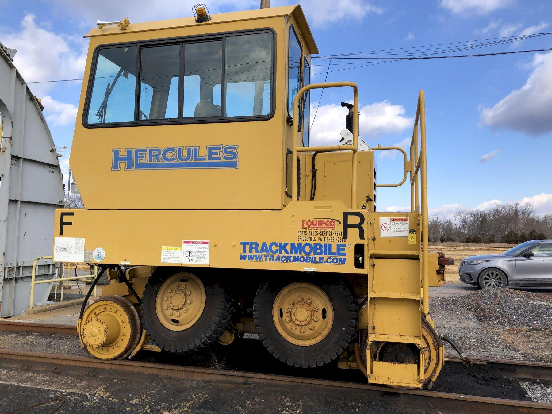 Trackmobile Hercules rail mover s/n lgn987531009 engine tm-1084476 s/n 46996757