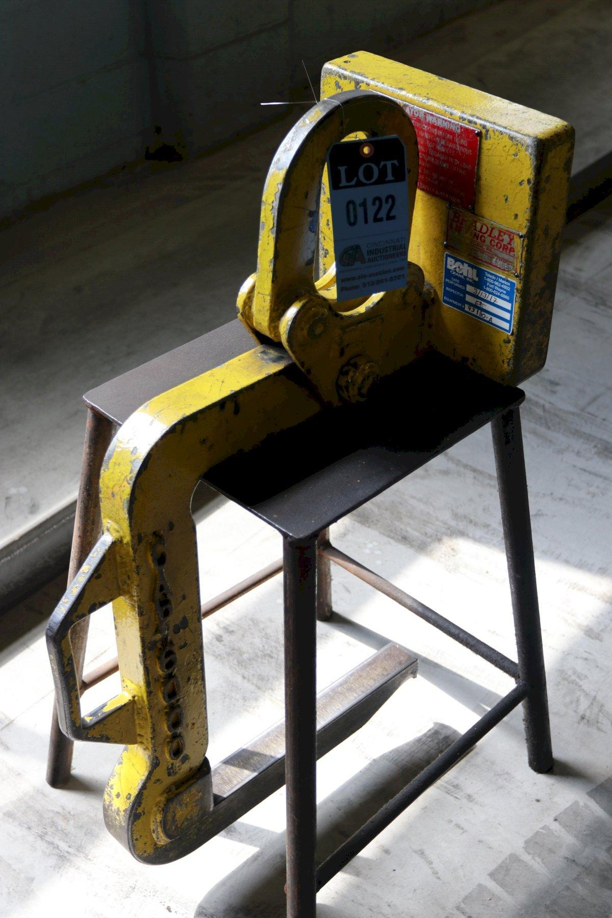 "6,000 LB X 16"" BRADLEY COIL LIFT C HOOK: STOCK 12772"