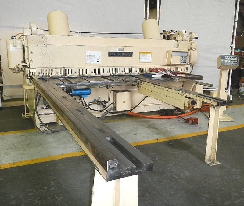 "10' x 1/4"" CINCINNATI MECHANICAL SQUARING SHEAR"