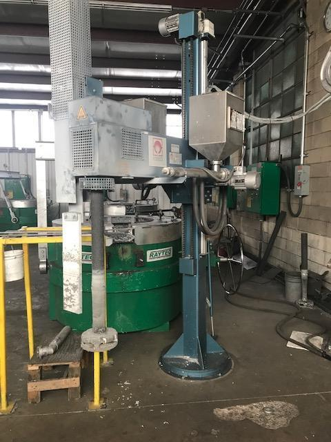 2016 FOSECO MODEL MTS 1500 COLUMN TYPE BOMA FD4 ROTARY DEGASSER S/N 1748 WITH 2- FLUX INJECTOR HOPPERS, POWER RAISING AND LOWERING BOOM, MANUAL ROTATION, SMARTT PACKAGE
