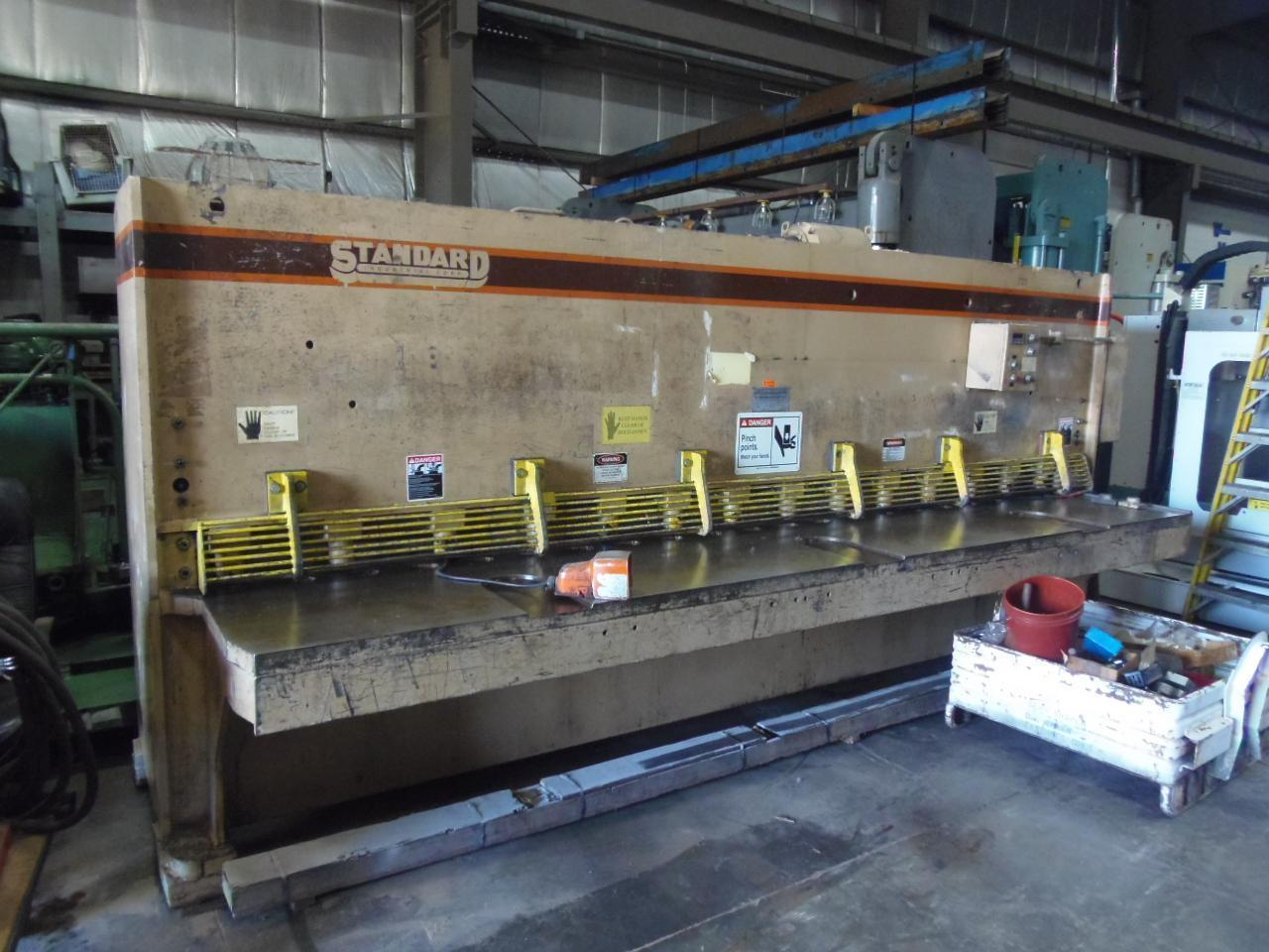 """1/4"""" X 14' STANDARD HYDRAULIC SHEAR AS250-14, NEW 1993, FRONT OPERATED POWER BACK GAUGE, FLUSH FLOOR"""