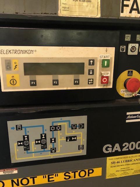 250 HP Atlas Copco Air Compressor