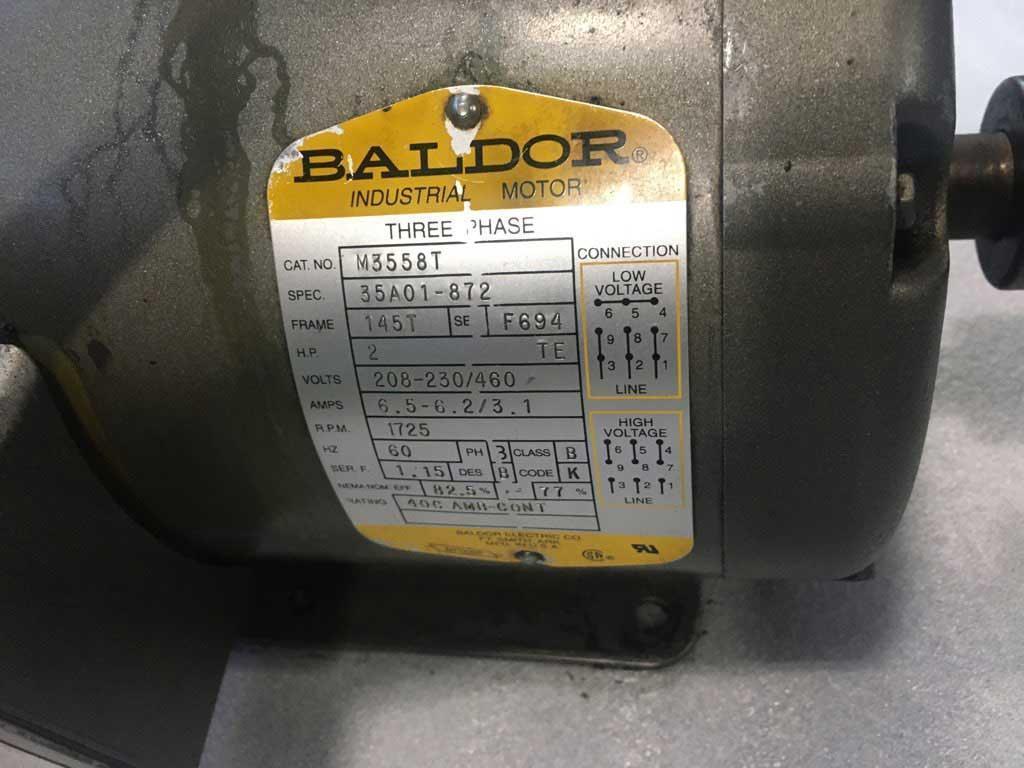 BALDOR AC MOTOR, CAT M3558T, 2 HP, 208-230/460