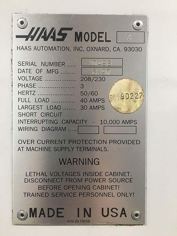 HAAS VF-3 CNC Vertical Machining Center