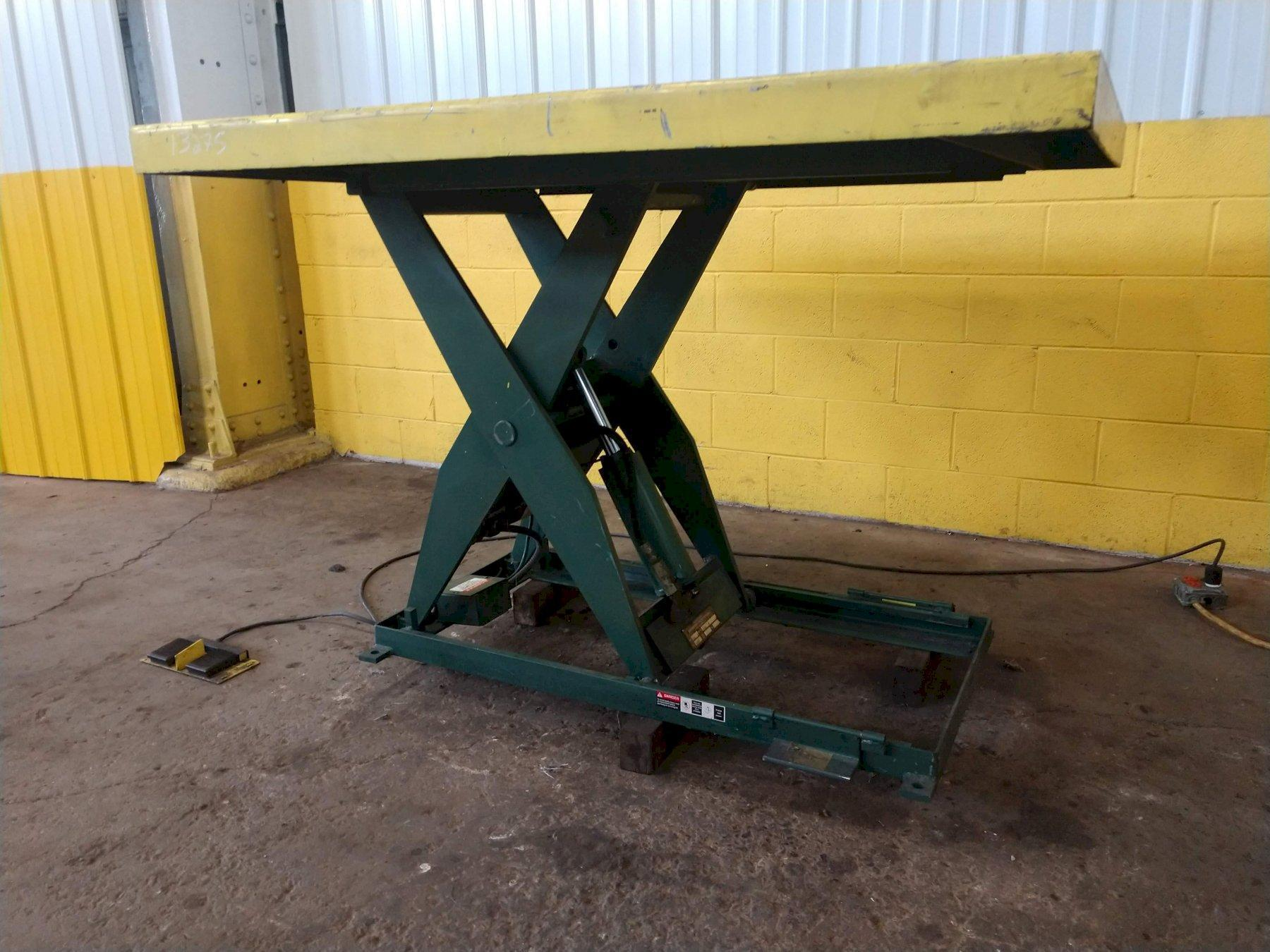 2,000 LB SOUTHWORTH ELECTRIC SCISSOR LIFT TABLE