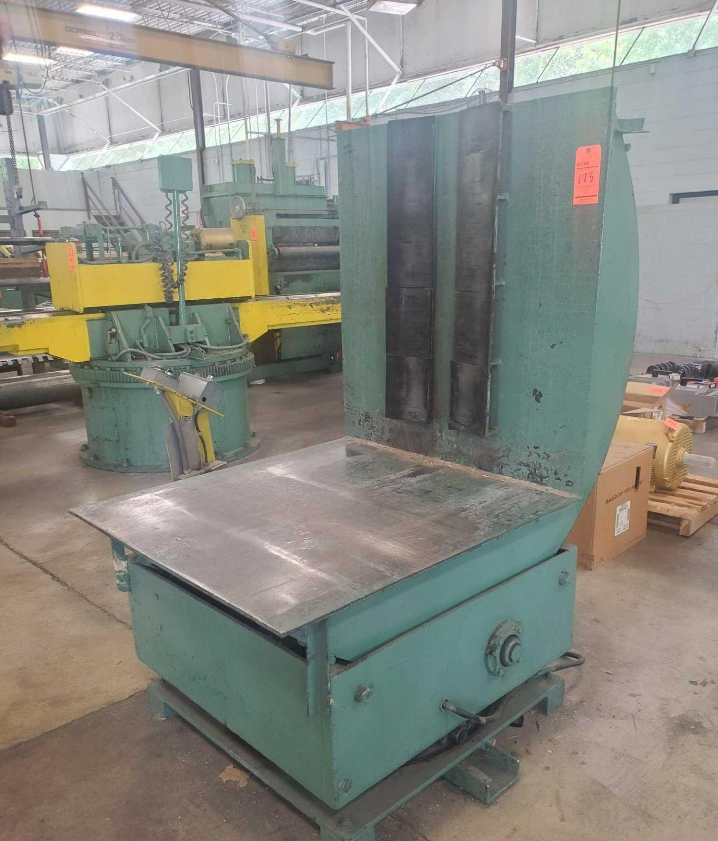12,500# Strip Line Hydraulic Coil Upender