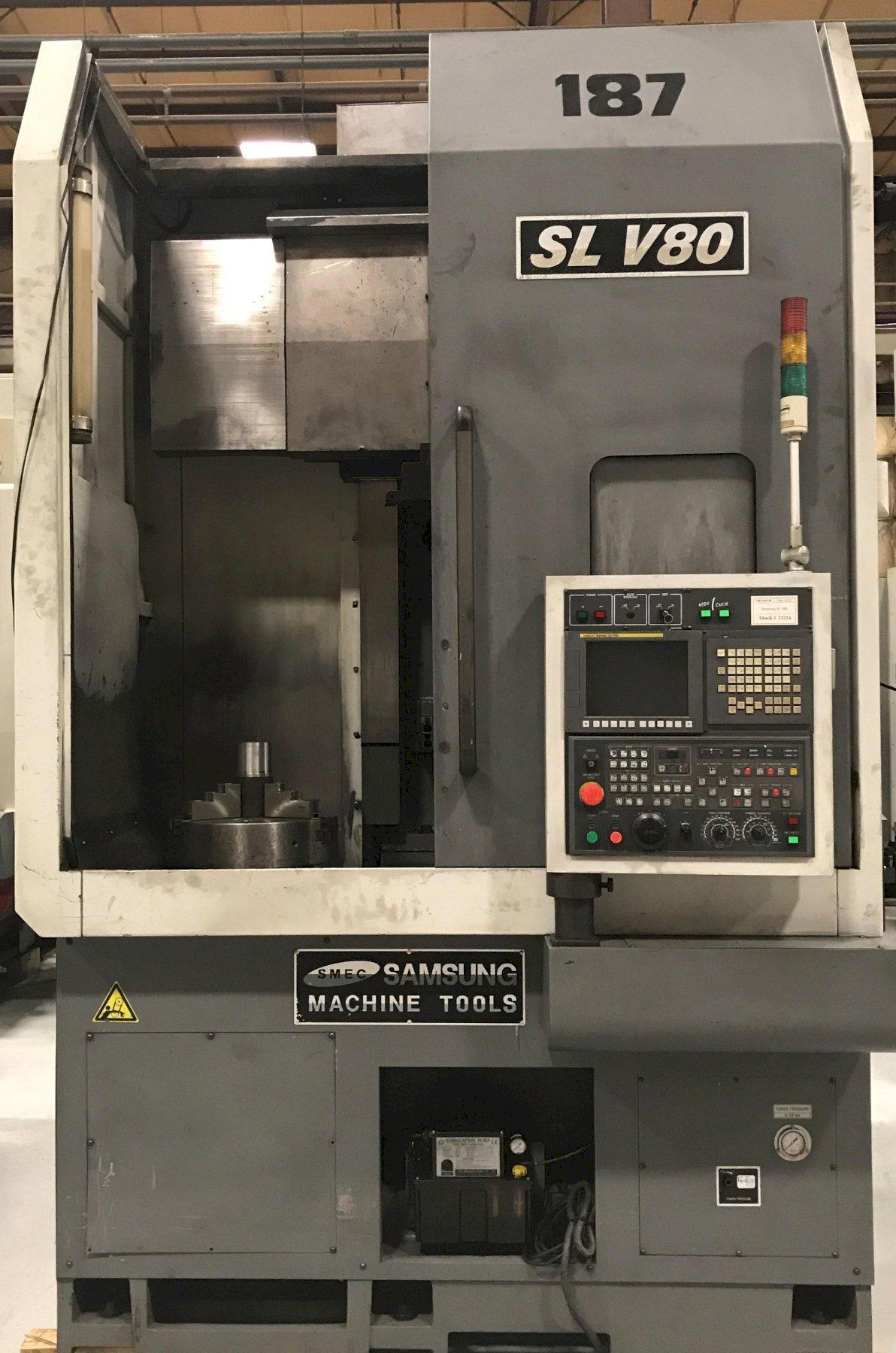 2012 Samsung SL V80 - CNC Vertical Turret Lathe