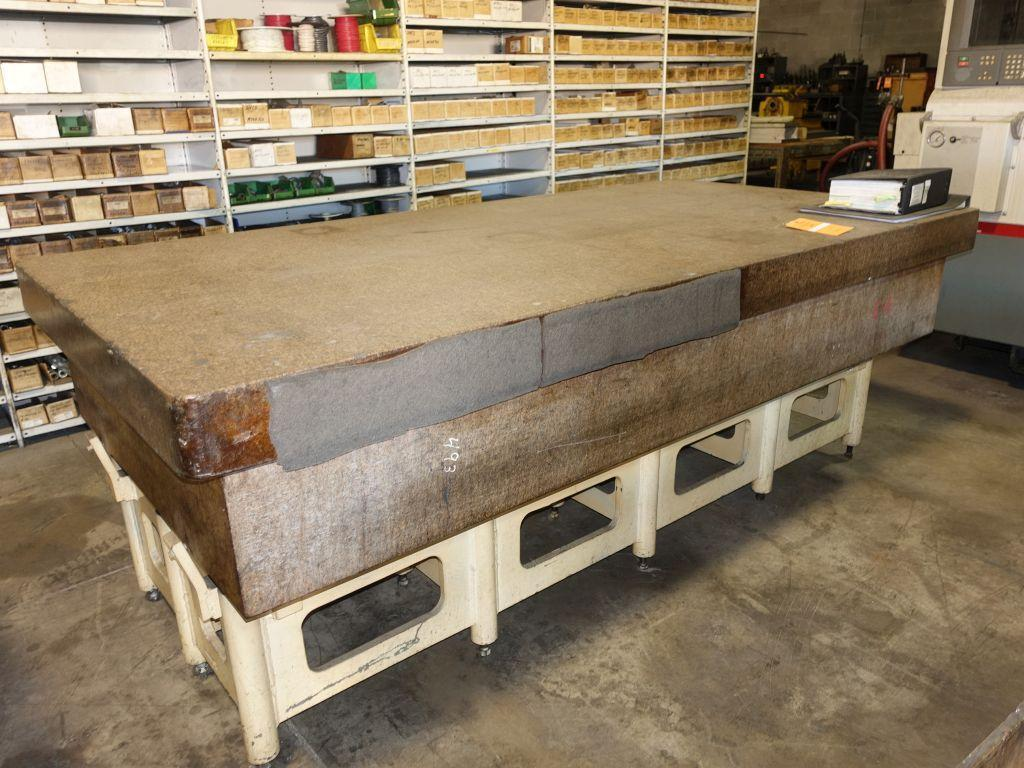 """48"""" X 96"""" HERMAN GRANITE SURFACE PLATE WITH STAND: STOCK #14658"""