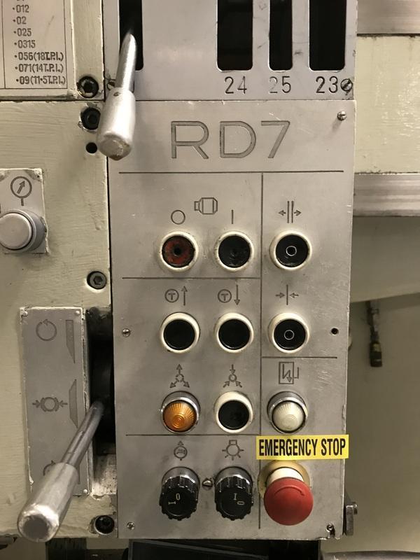 """Polamco 7' x 20"""" Heavy Duty Radial Drill"""