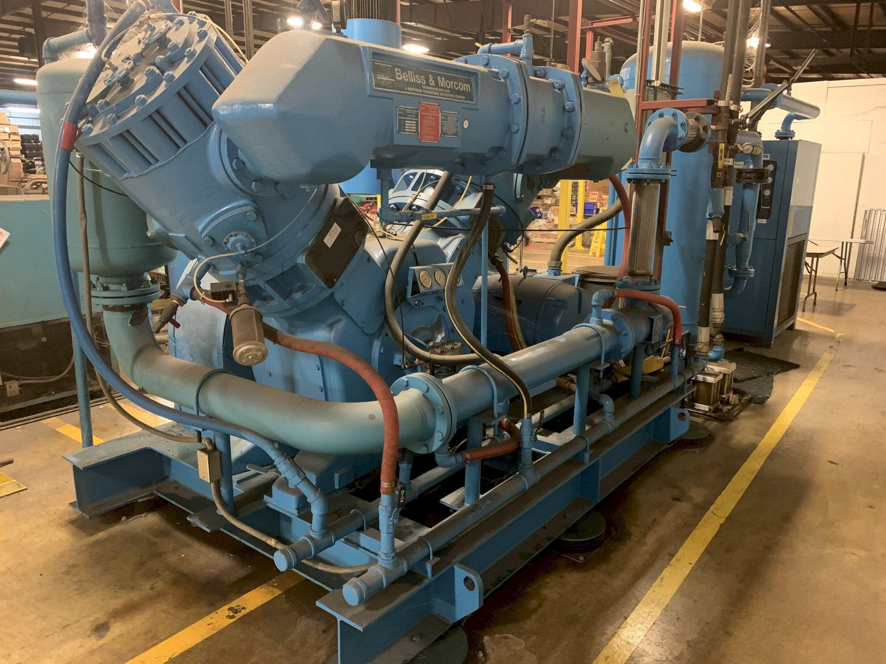 200 HP NEI BELLISS & MORCOM AIR COMPRESSOR WITH HANKINSON AIR DRYER SYSTEM: STOCK 11461