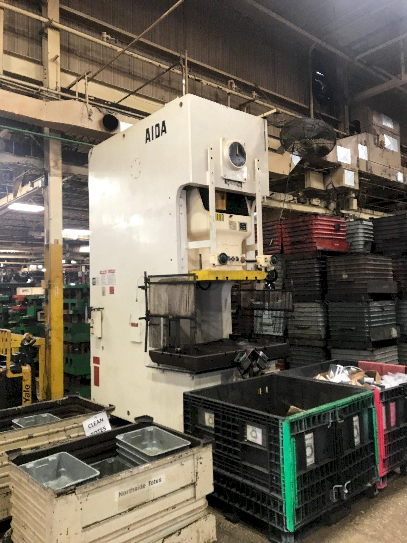 220 TON AIDA Model:  NC1-200(2) SINGLE POINT GAP FRAME PRESS, New 1994