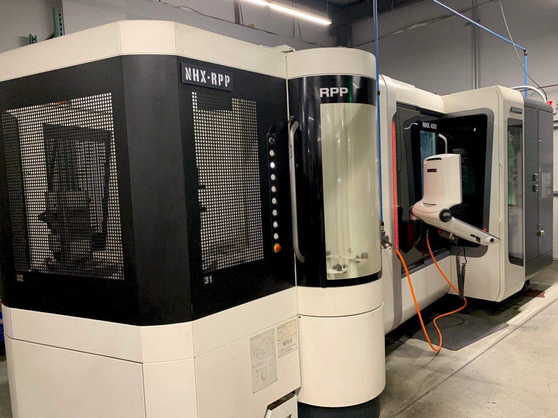 "Mori Seiki NHX-4000 Gen2 RPP, M700BM Celos CNC Control, (5) 16""x 16"" Pallets, X=22"",Y=22"",Z=22"", 15000 RPM, 120 ATC, Full 4th Axis, New 2015."