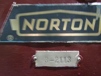 NORTON MODEL# 120246-E SURFACE GRINDER   Our stock number: 114036