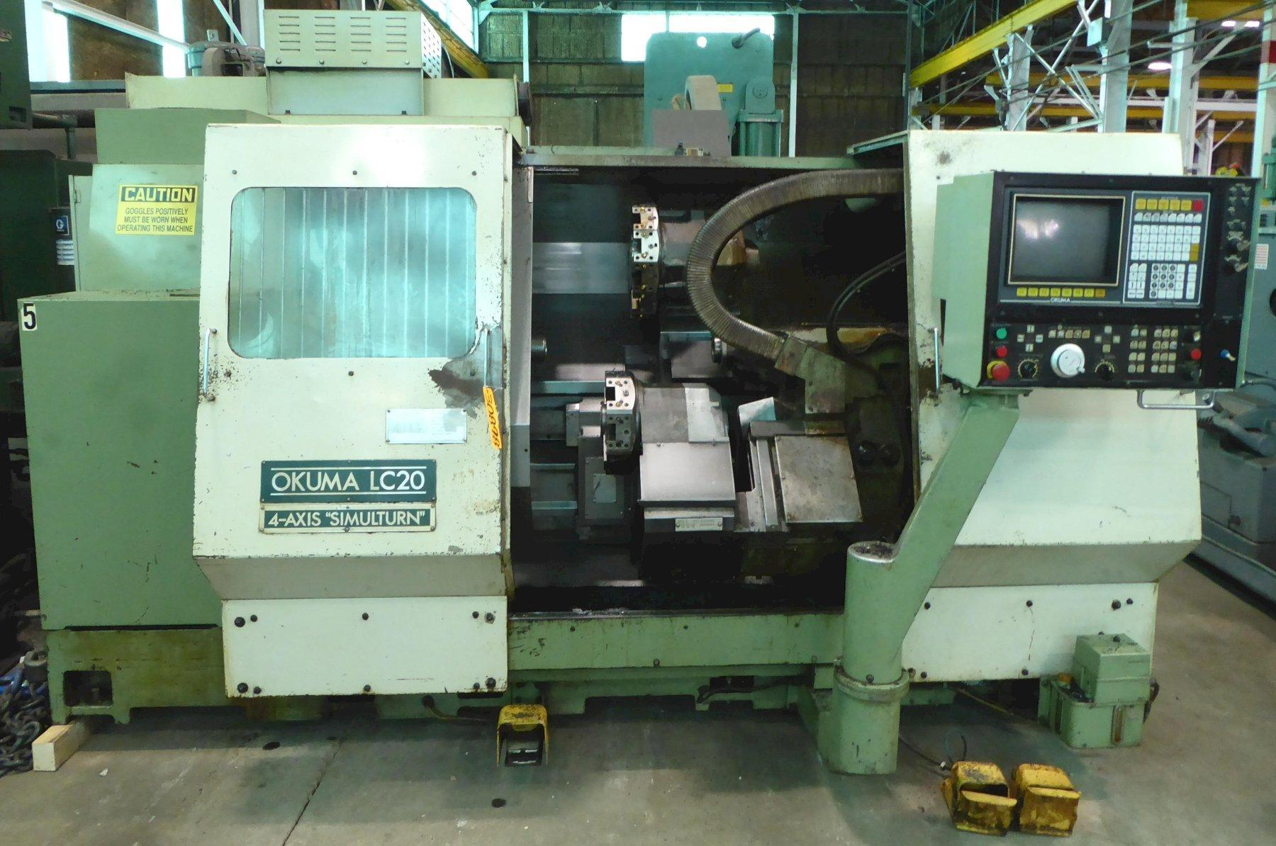 "Okuma CNC Turning Center LC-20, Twin Turret, 39"" Center Distance, OSP5000LG Control, Recenty Removed From Service"